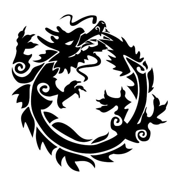 Ouroboros Dragon Circle Tattoo Design