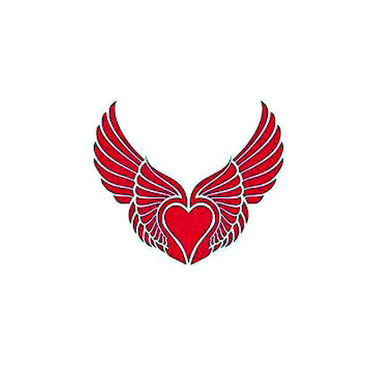 Pink Winged Heart Tattoo