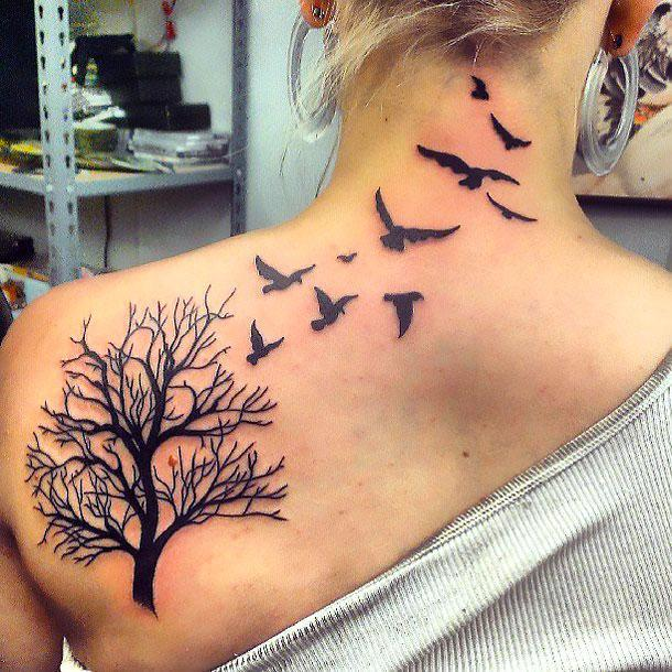 Birds Flying Away Tattoo Idea
