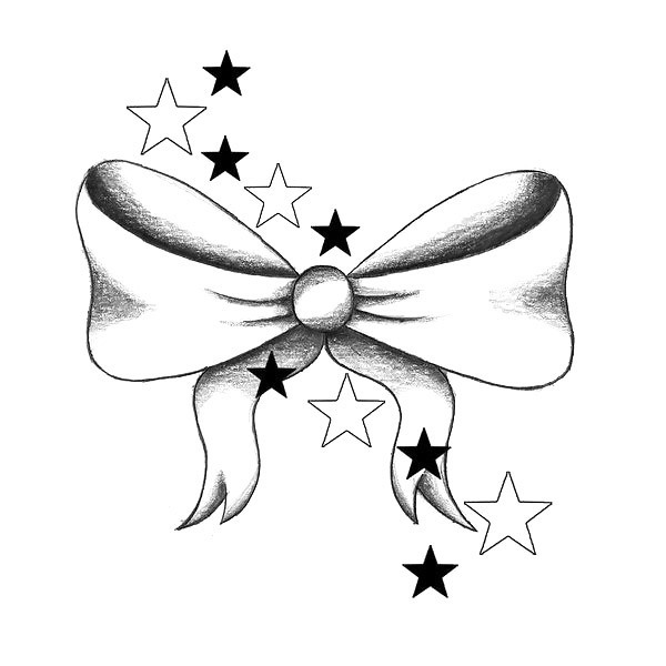 Simple Bow Tattoo Design