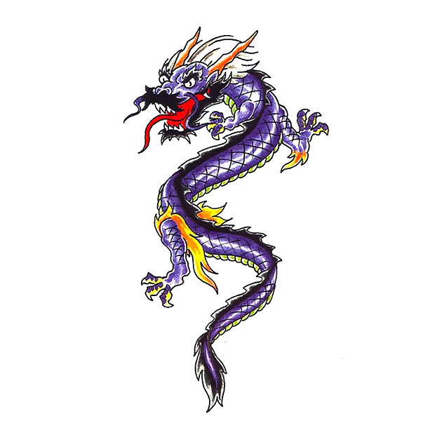 Small Chinese Dragon Tattoo Sketch Tattoo Design