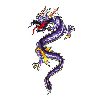 Small Chinese Dragon Tattoo Sketch Tattoo