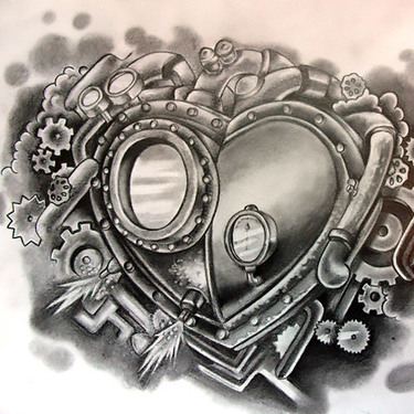 Steampunk Heart Tattoo