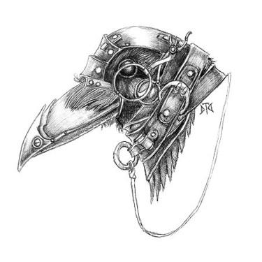 Steampunk Raven Head Tattoo