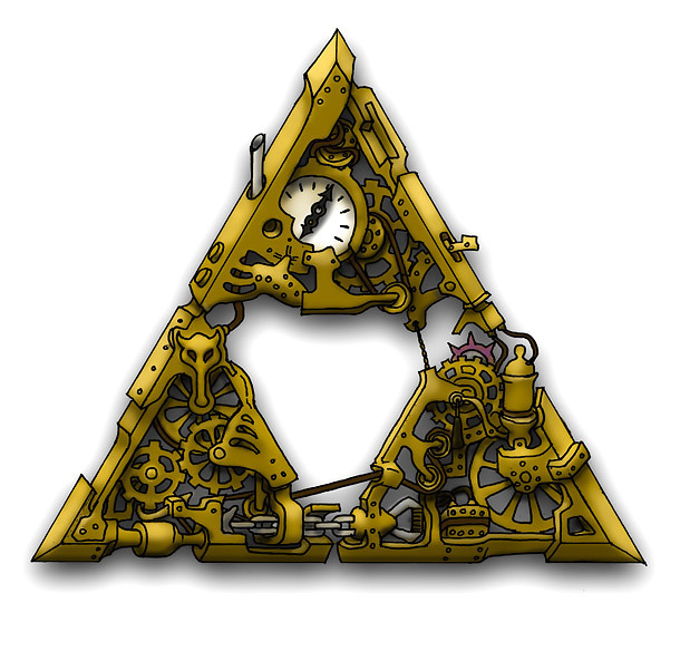 Steampunk Triforce Tattoo Design