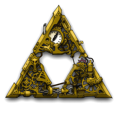 Steampunk Triforce Tattoo