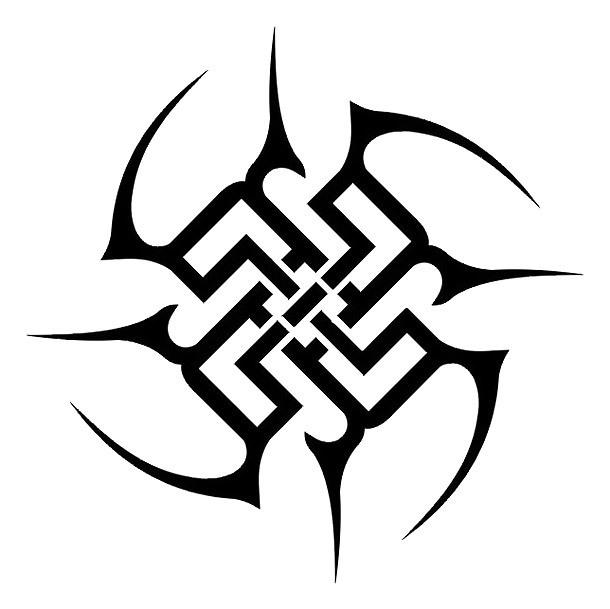Stunning Tribal Circle Tattoo Design