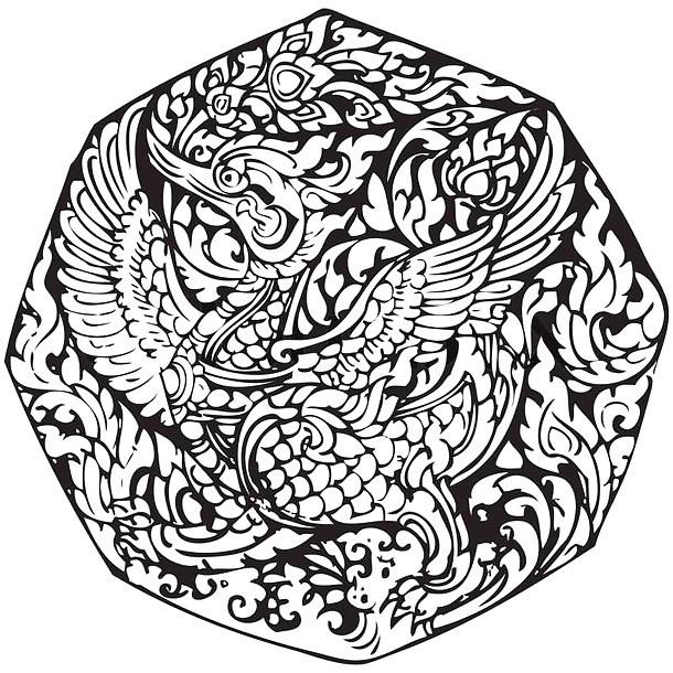 Thai Pattern Tattoo Design