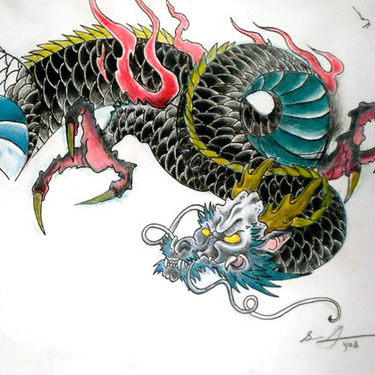 Traditional Japanese Dragon Tattoo