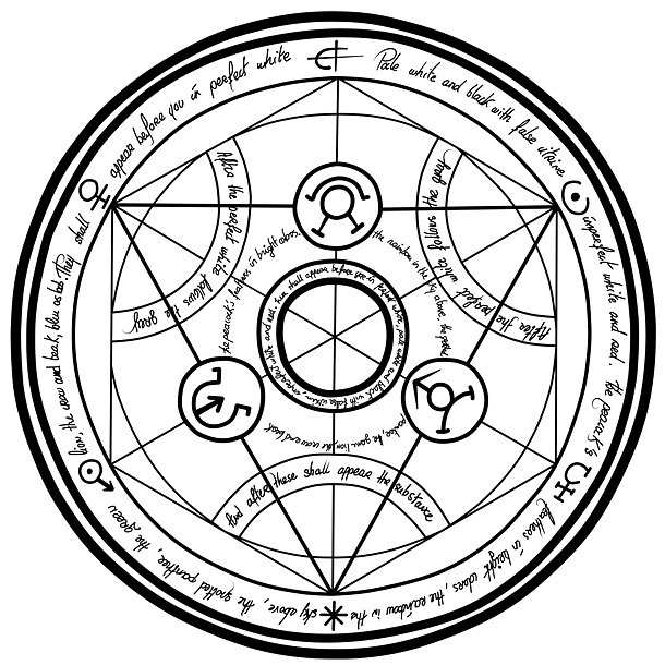 Transmutation Circle Tattoo Design