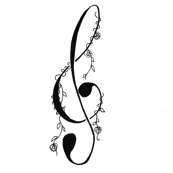 Treble Clef Tattoo for Girls Tattoo Design