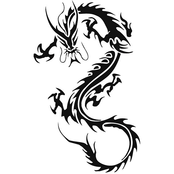Tribal Chinese Dragon Tattoo for Men Tattoo Design