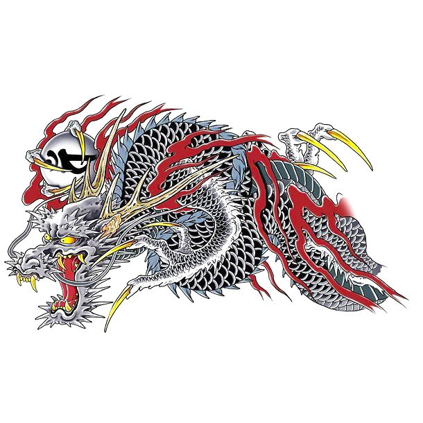Yakudza Chinese Dragon Tattoo Design