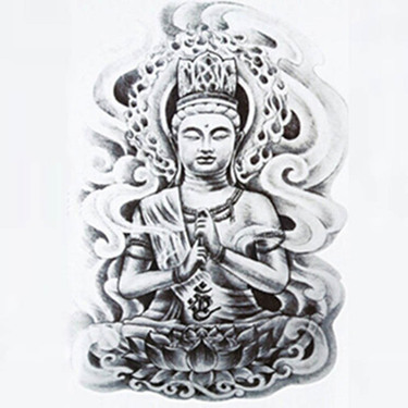 Gray Buddha Tattoo Sketch Tattoo