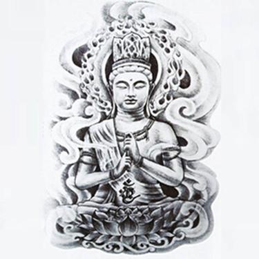 Gray Buddha Tattoo Sketch Tattoo