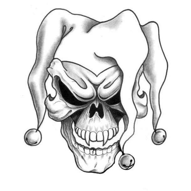 Joker Skull Tattoo Design