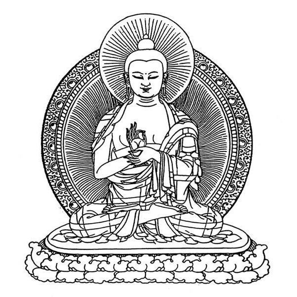 Spiritual Buddha Tattoo Sketch Tattoo Design