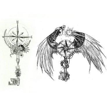 Steampunk Compass Tattoo