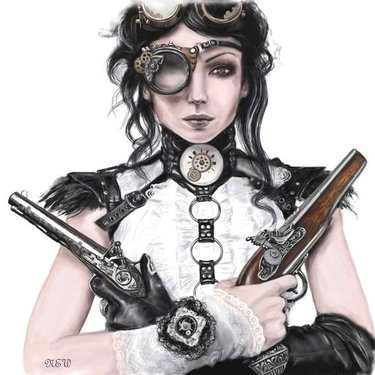 Steampunk Girl Tattoo Art Tattoo