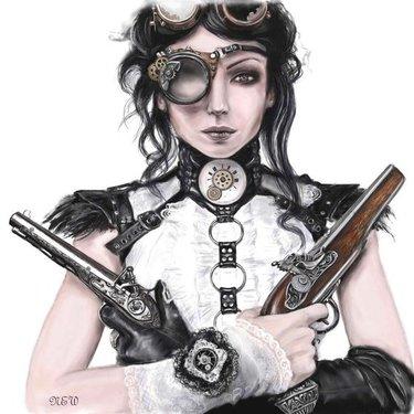 Steampunk Girl Tattoo Art Tattoo