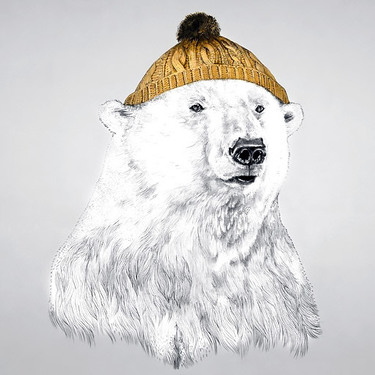 Polar Bear In A Cap Tattoo