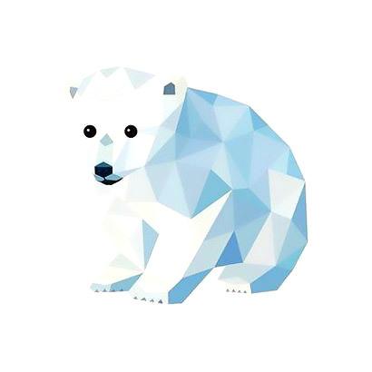 Polar Little Bear Tattoo Design