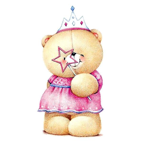 Princess Teddy Bear Tattoo Design