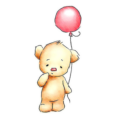 Teddy Bear With Baloon Tattoo