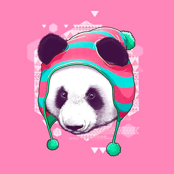 Warm Panda Bear Tattoo Design
