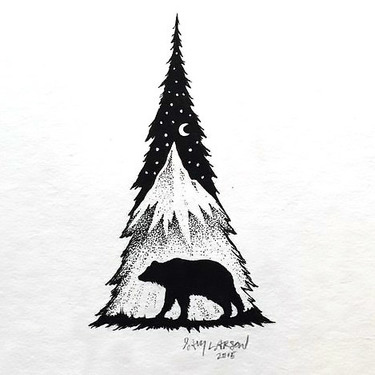 Fir Bear Tattoo