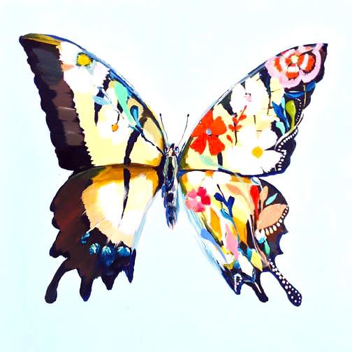 Flower Butterfly Tattoo Design