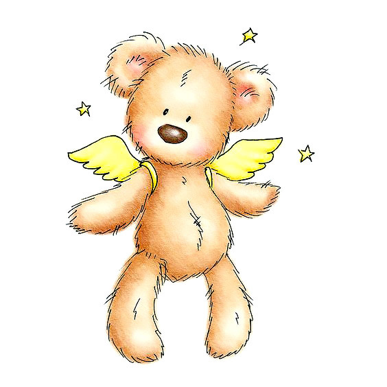 Flying Teddy Bear Tattoo Design