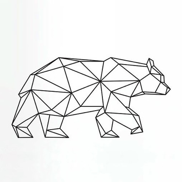 Geomtric Bear Tattoo