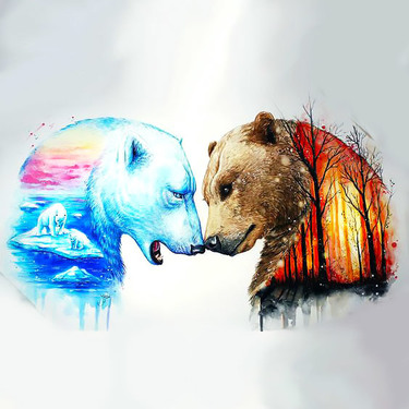 Grizzly With Polar Bear Tattoo
