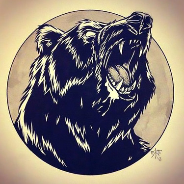 Head of Grizzly Bear Tattoo