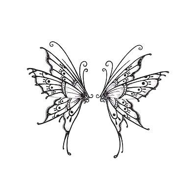 Lower Back Butterfly Tattoo Design