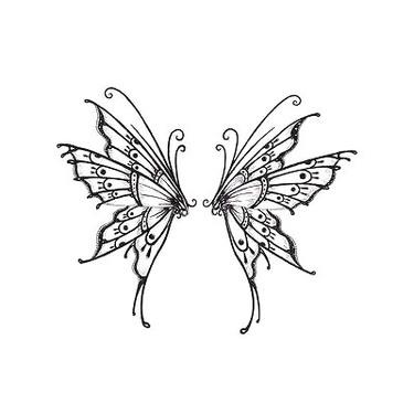 Lower Back Butterfly Tattoo