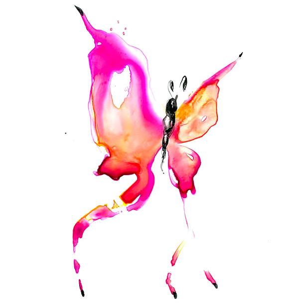 Purple Watercolor Butterfly Tattoo Design