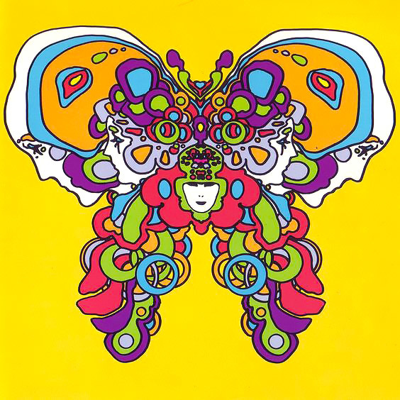 Psychedelic Butterfly Tattoo Design
