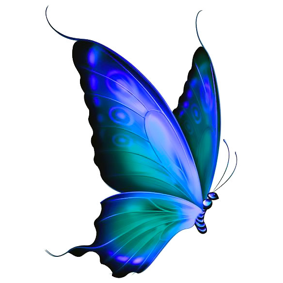 Simple Beautiful  Butterfly Tattoo Design