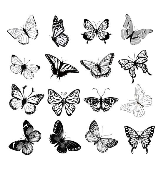 Small Butterflies Tattoo Design