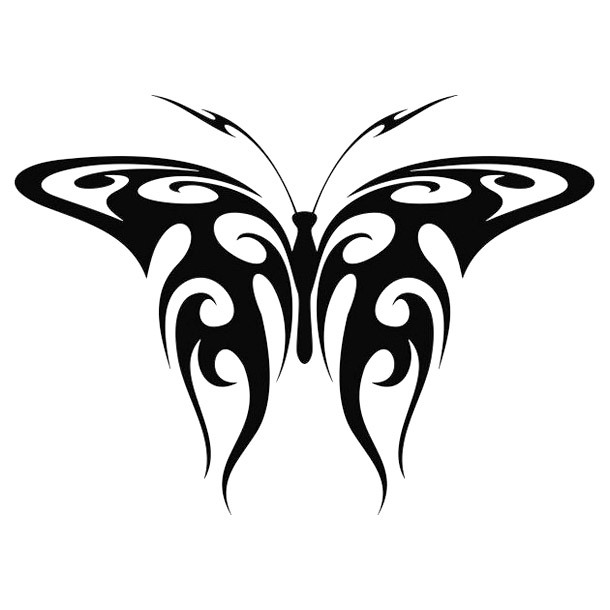 Tribal Butterfly Tramp Stamp Tattoo Design